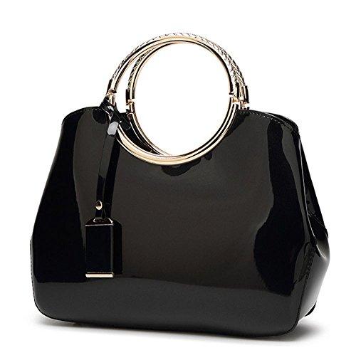 coquille de Sac 28 5 main Ladies black à soirée 22cm Black élégant sac forme YANX sac 10 Design xgv1qx