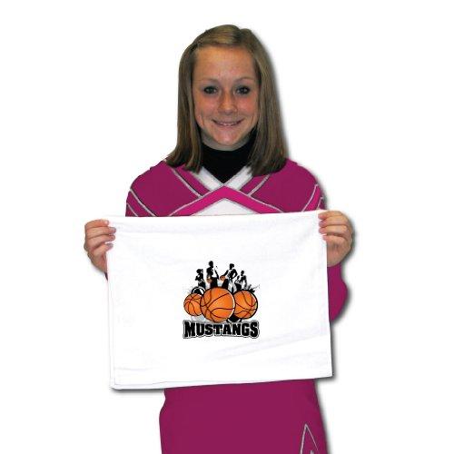 (VictoryStore Towels - Mustangs Mascot Basketball Team Towels, Set of)