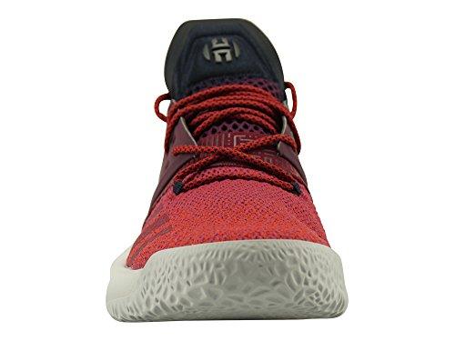 Adidas Hommes Harden Vol. 2, Gras Rouge / Clair Solide Gris Gras Rouge / Gris Clair Uni