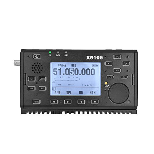 Xiegu X5105 OUTDOOR VERSION 0.5-30MHz 50-54MHz 5W 3800mAh HF TRANSCEIVER with USB Cable,IF Output, All Bands Covering SSB CW AM FM RTTY PSK Black by Xiegu (Image #1)