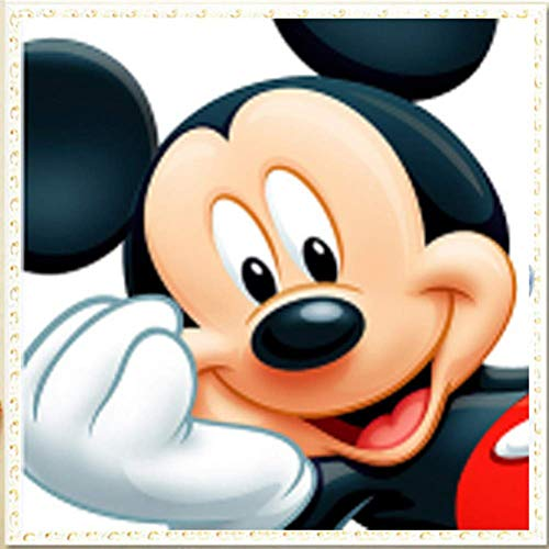 - Full Drill Diamond Painting Kits for Adults Kids Disney Mickey Mouse Picture Paint with Diamonds Rhinestone Beads Art Craft Room Decor Gift (Full Round Drill)