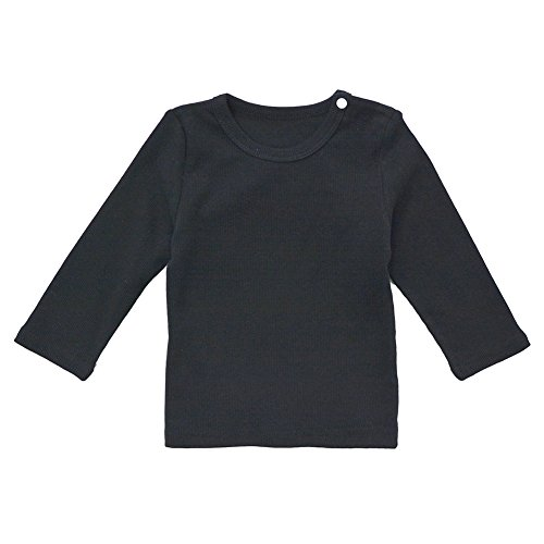 tton Long Sleeve Tee Infant Tops Black 7-12 Months ()