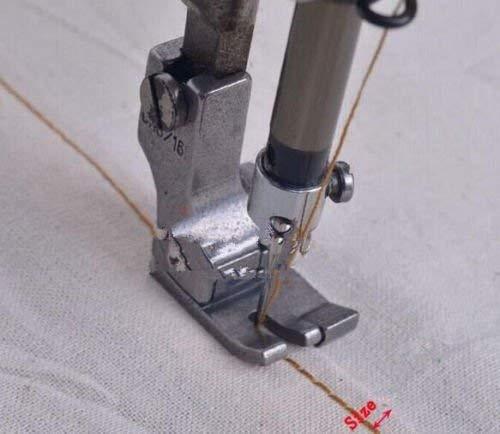 YICBOR - Pie prensatelas completo de acero derecho y ancho para máquina de coser industrial (CR1/8E): Amazon.es: Hogar