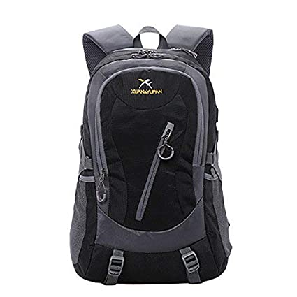 cf14df24eb9a3a Doubmall Lightweight Travel Hiking Backpack Waterproof Outdoor Camping  Hiking Daypack Sport Backpack for Men Women Black