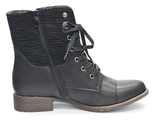 Sun & Shadow Damen Stiefel Boots Stiefelette Gefüttert Gr.36-42 -2521680 Schwarz