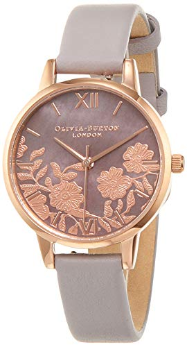 Olivia Burton Womens Analogue Quartz Watch with Leather Strap OB16MV92 ()