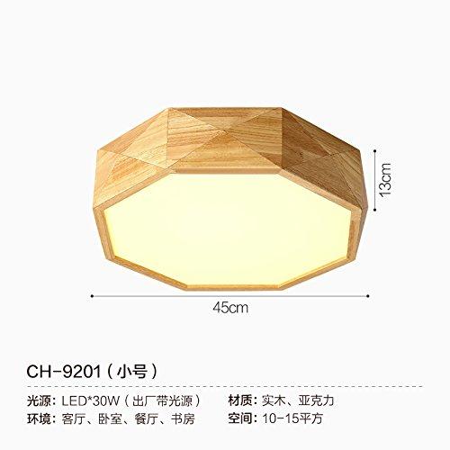 DYBLING Creative European Children's Lamp Simple Modern Led Lamp Geometry Led 4515 cm Logs Celing Lamp (4515 Lamp)