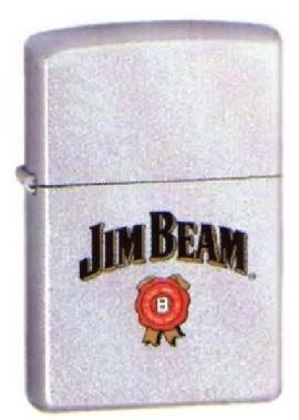 Zippo Lighter Jim Beam Label 205JB.315 (Beam Jim Zippo)