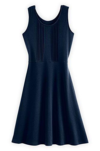 Fair Indigo Fair Trade Organic Sleeveless Pleated Dress