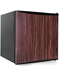 BESTEK Compact Refrigerator Energy Star Single Door 1.6 cu ft. Mini Fridge with Freezer - Wood Grain (UL Listed)