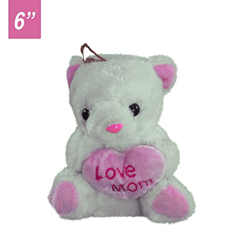 "Love Mom 6"" Plush Teddy Bear - Stuffed Animal For Mother's Day"