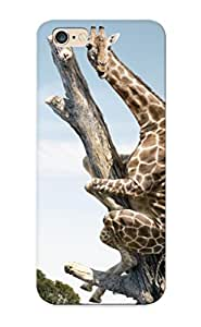 Christmas Gift - Tpu Case Cover For Iphone 6 Plus Strong Protect Case - Funny Giraffe Animals Animal Design