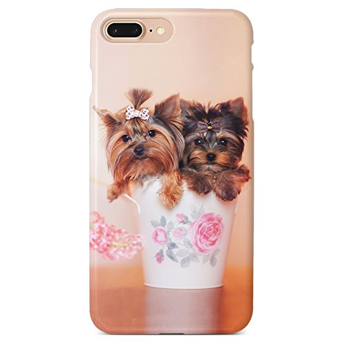 - Monarque iPhone Case with Smooth Premium Durable Scratch-Resistant TPU Material with Puppies Yorkies Design Fit For iPhone 6 Plus iPhone 7 Plus iPhone 8 Plus