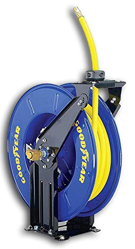 GOODYEAR Air/Water Hose Reel Retractable Spring Driven 3/8
