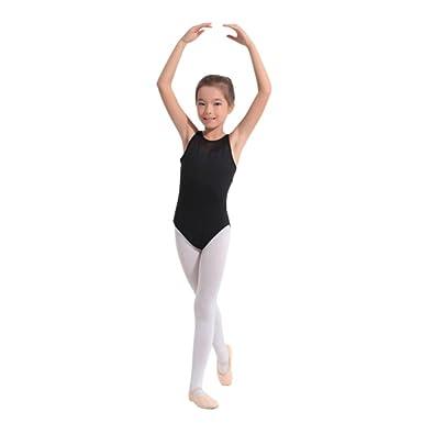 4b94774caa14 Balai Girls Gymnastics Leotard Stretchy Dance Sleeveless Bodysuit ...
