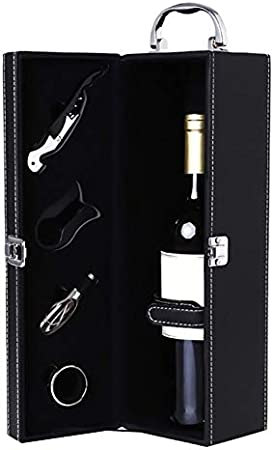 Waroomss - Botellero de Vino Antiguo, Caja para Vino, botellero para Botellas de Vino, Juego para Sommelier Set para Vino para Sommelier Contenedor para cóctel