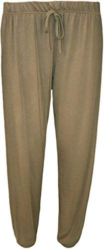 WearAll Plus Size Women's Harem Pants - Mocha - US 22-24 (UK 26-28)