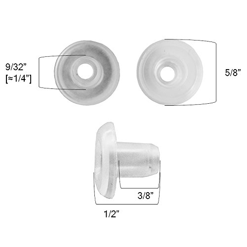 Qty 12 Horizontal Blinds Bottom Rail Ladder Cord Button Plug 9 32 1 2 3 4 9 32
