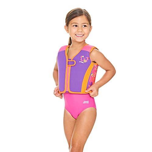 Zoggs Kid's Learn to Swim Float Jacket/Vest with Fixed Buoyancy, Pink, 2-3...