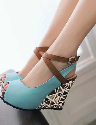 ShangYi Womens Shoes Leatherette Wedge Heel Wedges / Peep Toe / Platform /  Gladiator / Comfort ...