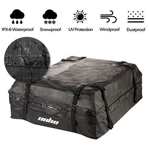 6023fded21eb LUVODI Car Roof Bag Waterproof Rooftop Cargo Carrier Bag Car Top Storage  Pack Box for Cars Vans SUVs Self-driving Tour Traveling Outdoor Camping -  15 ...