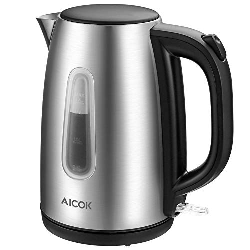 Electric kettle Aicok Stainless Steel Tea Kettle, Ultra Fast Boiling, 1.7L Cordless Water Kettle, 100% BPA Free, Auto Shut off and Boil Dry Protection, 1500W