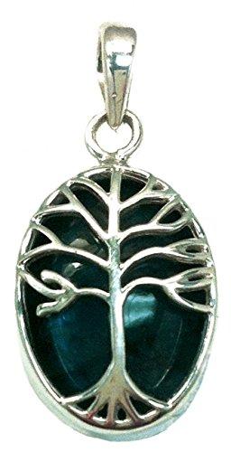 Labradorite White Pendant (Tree of Life Healing Stone Pendant (Labradorite))