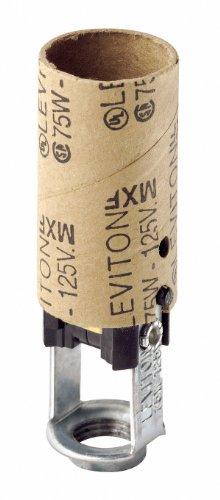 Leviton 041-10025 Candelabra Socket, Black