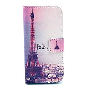 QHY The Eiffel Tower in Paris Pattern PU Leather Full Body case for iPhone 5/5S