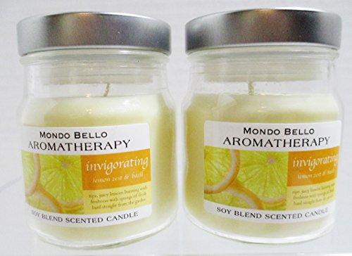 mondo-bello-aromatherapy-scented-candles-2-lemon-zest-basil-3-oz-jars