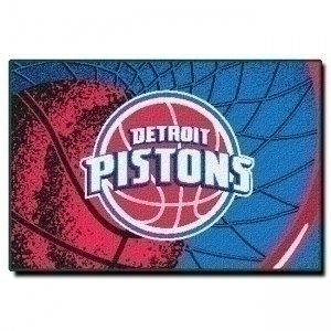 Officially Licensed NBA Detroit Pistons Tufted Rug, 39