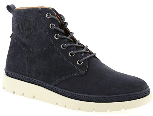 Palladium Herren Pallasider Mid Sue Blau Leder Stiefel Boots Größe 43