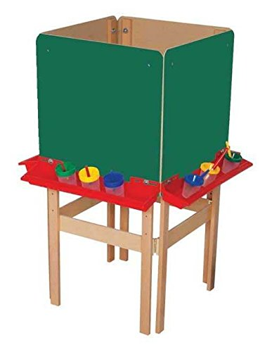 Wood Designs WD19175 4-Sided Easel with Chalkboard by Wood Designs