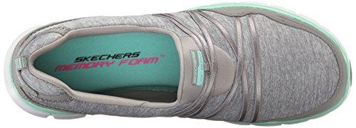 Skechers Sport Frauen Szene Stealer Mode Sneaker Grau / Minze