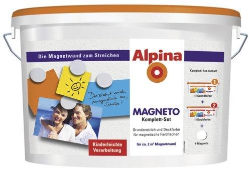 Alpina MAGNETO Komplett-Set, 2 L., ca. 2 m² Magnetwand zum streichen Rühl Farben GmbH