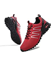 AX BOXING Men's Hiking Shoes Low Top Lightweight Outdoor Trekking Camping Trail Hiking Climbing Shoes Size 8-12