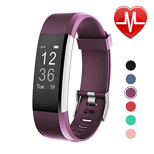 Letsfit Fitness Tracker HR, Activity Tracker Watch with Heart Rate Monitor, IP67 Water Resistant Smart Bracelet with Calorie Counter Pedometer Watch for Kids Women Men