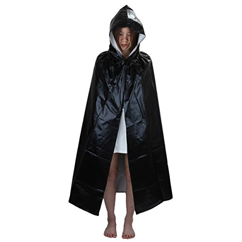 Samtree Christmas Halloween Costumes Cape for Kids,Velvet Hooded Cosplay Party Cloak (M & M Halloween Costumes Pattern)