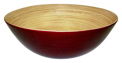 (Simply Bamboo BBM16 Glossy Mahogany Bamboo Bowl, 16 x 16 x 6 )