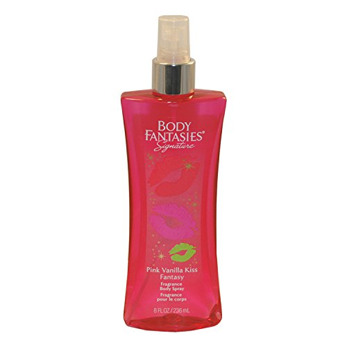 Body Fantasies Signature Fragrance Body Spray, Pink Vanilla Kiss Fantasy, 8 Fluid Ounce