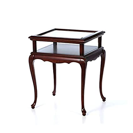 Amazoncom Wood End Table With Decorative Pieces End Table With