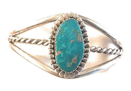 - Nizhoni Traders LLC Navajo Kingman Turquoise Sterling Silver Cuff Bracelet Signed