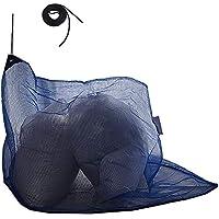 J Covers カラス よけ ゴミ ネット 改良版 三角型 45L ゴミ袋 約1~2個用 ゴミ袋の上からスッポリかぶせるだけで便利 細かい網目 ネット周囲おもりロープ入 周囲にくくり付けできるヒモ付きで便利 (ブルー)