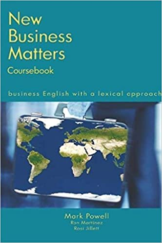 New Business Matters: Business English with a Lexical ...