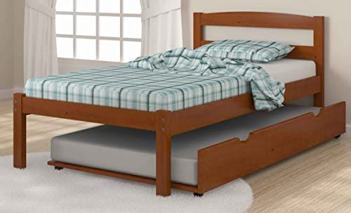 Donco Kids Econo Bed Light Espresso Twin W Twin Trundle Bed