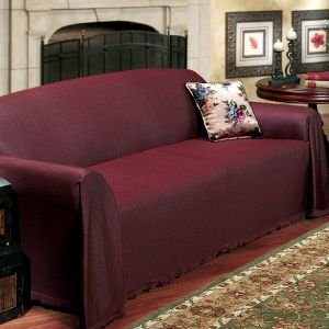 NEW FURNITURE THROW COVERS, Loveseat Throw Cover   70u0026quot; X 120u0026quot;,  Burgundy