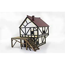 Fantasy Cottage in MDF by WWS – Diorama Wargames Scenery Modelling