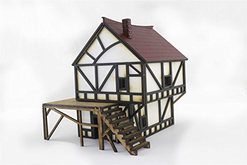Roof Cut Laser (War World Gaming WWG Fantasy Cottage Building in MDF – Diorama Wargames Scenery Modelling Terrain)