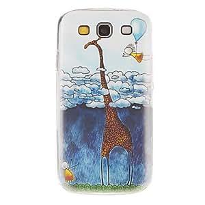 Cartoon Giraffe Pattern Hard Case for Samsung Galaxy S3 I9300