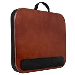 Classic Wood Laptop Lapdesk with Wrist Pad
